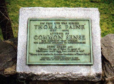 Thomas Paines Grave Marker