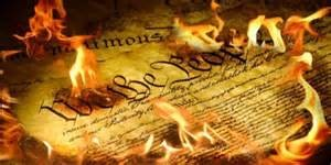 US Constitution Burning
