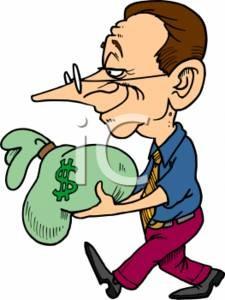 0511-0701-3114-5755_Big_Nosed_Businessman_Carrying_a_Big_Bag_of_Money