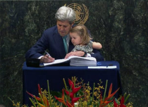 Kerry Signing Paris Climate Accord