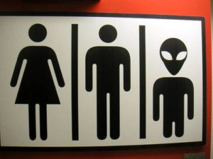 Transgender Bathroom Sign- Aliens