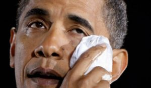 Obama tearing