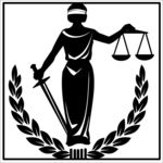 Lady Justice with scales and mask