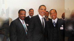 Obama and Farrakhan- 2005