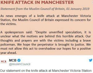 Manchester Islamic Terrorist New Years Eve 2018 Knife Attack