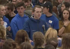 Student Speaking at STEM Student Rally