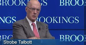 Strobe Talbott - Pres of Brookings Institution
